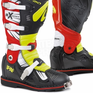 Forma Terrain TX 2.0 Motocross Boots - Black Fluo Yellow Red Image 2