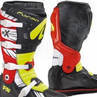 Forma Terrain TX 2.0 Motocross Boots - Black Fluo Yellow Red Image 4