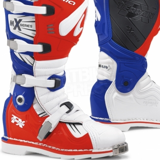 Forma Terrain TX 2.0 Motocross Boots - White Red Blue Image 2