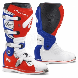 Forma Terrain TX 2.0 Motocross Boots - White Red Blue Image 3