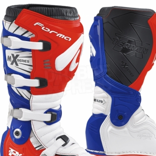 Forma Terrain TX 2.0 Motocross Boots - White Red Blue Image 4