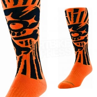 Troy Lee Designs GP Motocross Socks - Skully Orange Image 2