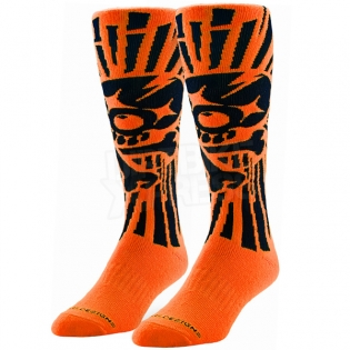Troy Lee Designs GP Motocross Socks - Skully Orange Image 3