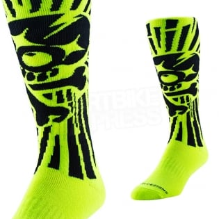 Troy Lee Designs GP Motocross Socks - Skully Yellow Image 2