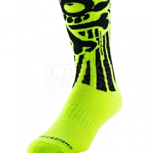 Troy Lee Designs GP Motocross Socks - Skully Yellow Image 4