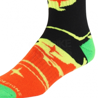Troy Lee Designs GP Kids Motocross Socks - Galaxy Black Yellow Image 2