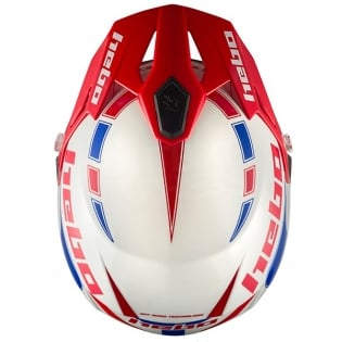 Hebo Zone 5 Polycarb Trials Helmet - Like Blue Red Image 2