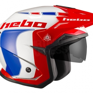 Hebo Zone 5 Polycarb Trials Helmet - Like Blue Red Image 3