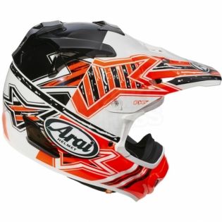 Arai MXV Motocross Helmet - Star Orange Image 3