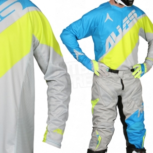 2017 Alias A1 Jersey - Floated Cyan Chartreuse Image 2