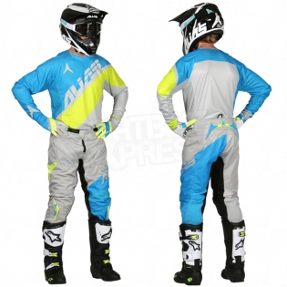 2017 Alias A1 Jersey - Floated Cyan Chartreuse Image 3