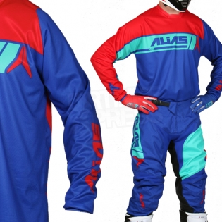 2017 Alias A2 Jersey - Sidestacked Blue Red Image 2