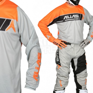 2017 Alias A2 Jersey - Sidestacked Grey Neon Orange Image 2