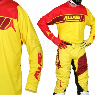 2017 Alias A2 Jersey - Sidestacked Yellow Red Image 2