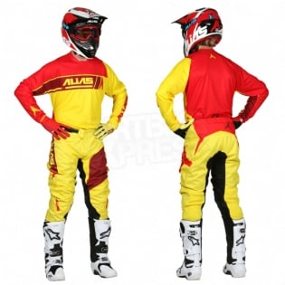 2017 Alias A2 Jersey - Sidestacked Yellow Red Image 3