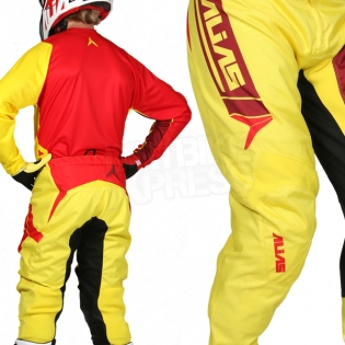 2017 Alias A2 Jersey - Sidestacked Yellow Red Image 4