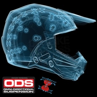 6D ATR-1 Helmet - Edge Neon Orange White Image 4