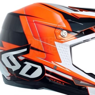 6D ATR-1 Helmet - Sonic Orange Charcoal Image 3