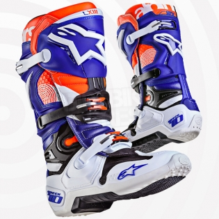 Alpinestars Tech 10 Boots - Ltd Indianapolis White Blue Orange Image 3