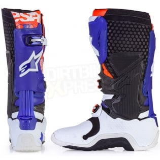 Alpinestars Tech 10 Boots - Ltd Indianapolis White Blue Orange Image 4