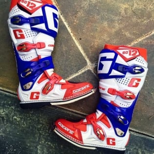Gaerne SG12 Motocross Boots - Limited Edition Red White Blue Image 2