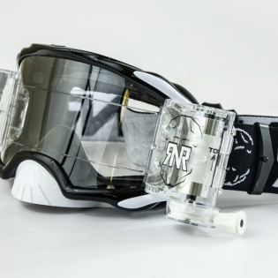 Rip n Roll Platinum WVS Roll Off Goggles - Black Image 4