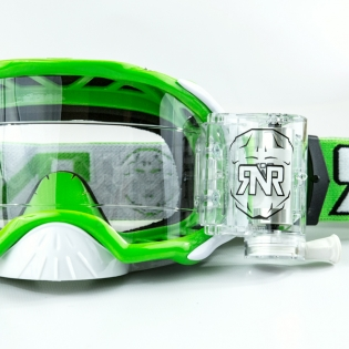 Rip n Roll Platinum WVS Roll Off Goggles - Green Image 2