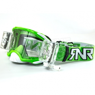 Rip n Roll Platinum WVS Roll Off Goggles - Green Image 3