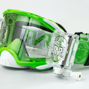 Rip n Roll Platinum WVS Roll Off Goggles - Green Image 4