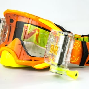 Rip n Roll Platinum WVS Roll Off Goggles - Orange Image 4