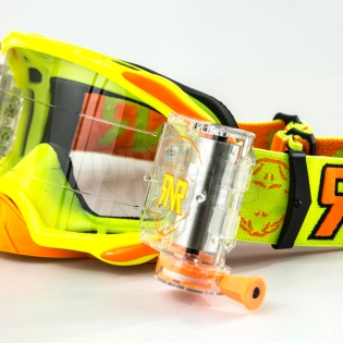 Rip n Roll Platinum WVS Roll Off Goggles - Yellow Image 4