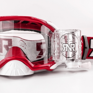 Rip n Roll Platinum WVS Roll Off Goggles - Red Image 2