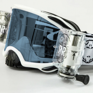 Rip n Roll Platinum WVS Roll Off Goggles - White Image 4