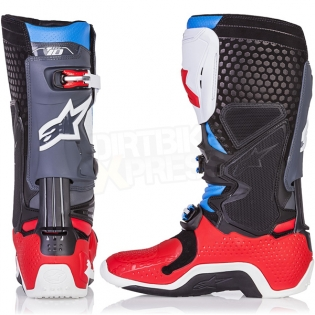 Alpinestars Tech 10 Boots - Ltd Bomber Red Aqua Anthracite White Image 4