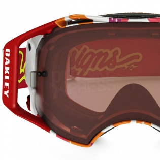 Oakley Airbrake MX Goggles - Troy Lee Splinter Orange Red Prizm Image 3