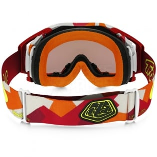 Oakley Airbrake MX Goggles - Troy Lee Splinter Orange Red Prizm Image 4