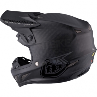 Troy Lee Designs SE4 Carbon Helmet - Midnight Black Image 2