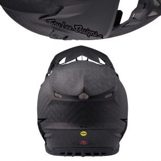 Troy Lee Designs SE4 Carbon Helmet - Midnight Black Image 3