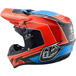 Troy Lee Designs SE4 Carbon Helmet - Squadra Team Orange Image 2
