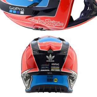 Troy Lee Designs SE4 Carbon Helmet - Squadra Team Orange Image 3