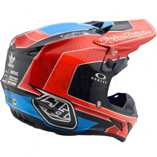 Troy Lee Designs SE4 Carbon Helmet - Squadra Team Orange Image 4