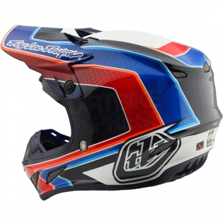 Troy Lee Designs SE4 Carbon Helmet - Squadra Team White Image 2