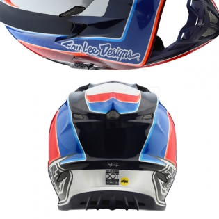 Troy Lee Designs SE4 Carbon Helmet - Squadra Team White Image 3