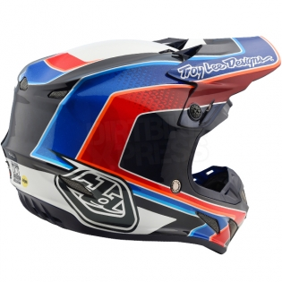 Troy Lee Designs SE4 Carbon Helmet - Squadra Team White Image 4