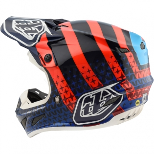 Troy Lee Designs SE4 Carbon Helmet - Streamline Navy Orange Image 2