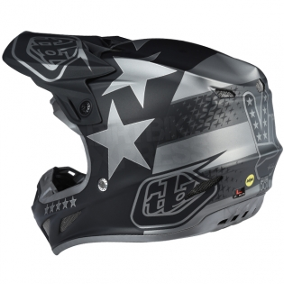 Troy Lee Designs SE4 Composite Helmet - Freedom Black Image 2