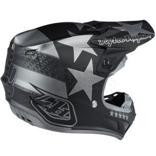 Troy Lee Designs SE4 Composite Helmet - Freedom Black Image 4