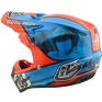 Troy Lee Designs SE4 Composite Helmet - McQueen Blue Orange