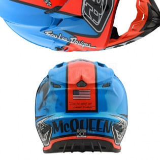Troy Lee Designs SE4 Composite Helmet - McQueen Blue Orange Image 3
