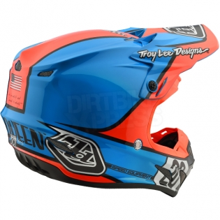Troy Lee Designs SE4 Composite Helmet - McQueen Blue Orange Image 4